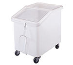 Cambro IBS37 37-gal Mobile Ingredient Bin - Sliding Cover, White/Clear