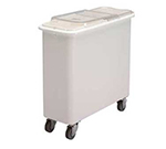 Cambro IBSF27148 27-gal Mobile Ingredient Bin - Sliding Cover, White/Clear