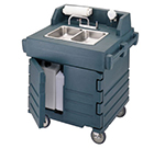 "Cambro KSC402191 45.5""H Portable Sink Cart w/ (2) 4""D Bowls, Hot Water"