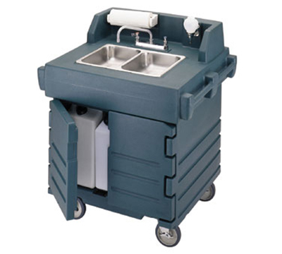 Cambro KSC402191 CamKiosk Hand Sink Cart - Granite Gray 110v