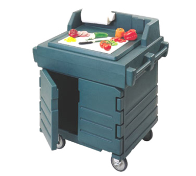 "Cambro KWS40192 CamKiosk Utility/Work Station - 40-9/16x32-1/2x45-1/2"" Granite Green"