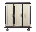"Cambro MDC1411T60191 Tall Meal Delivery Cart - Correctional Use, 60x29-1/4x63-5/8"" Granite Gray/Cream"