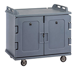 "Cambro MDC1418S20191 Meal Delivery Cart - Holds (20)14x18"" Trays, Granite Gray"
