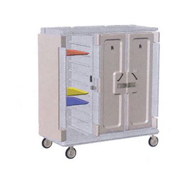 "Cambro MDC1418T30401 Meal Delivery Cart - Holds (30)14x18"" Trays, Slate Blue/Cream"