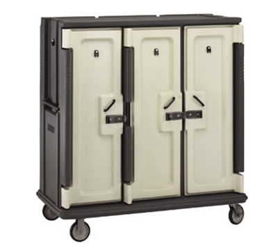"Cambro MDC1520T30192 Meal Delivery Cart - Holds (30)15x20"" Trays, Granite Green/Cream"