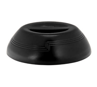 "Cambro MDSD9110 9"" Shoreline Collection Plastic Dome Cover - Black"