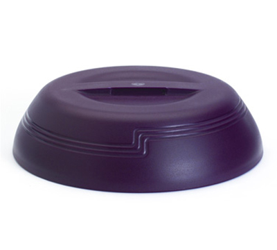 "Cambro MDSLD9487 10"" Shoreline Collection Plastic Dome Cover - Cranberry"