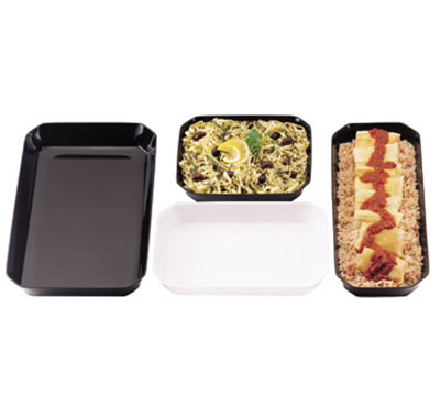 "Cambro SFG1220148 Octagonal Display Tray - 12x20x2"" White"