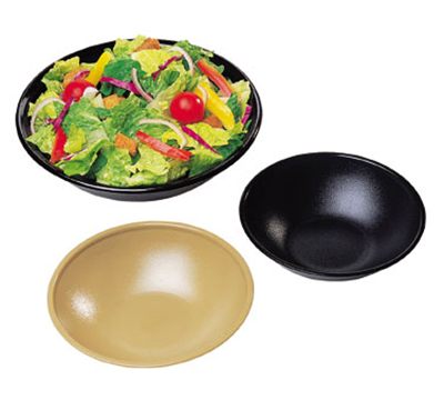 "Cambro SB55110 5-11/16"" Budge Salad Bowl - 10.9-oz Capacity, Black"