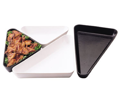 "Cambro SFT1212110 Triangle Display Tray - 12x12x15x2-1/2"" Black"