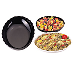 Cambro SFV1015110 3-qt Scalloped Oval Bowl - Black