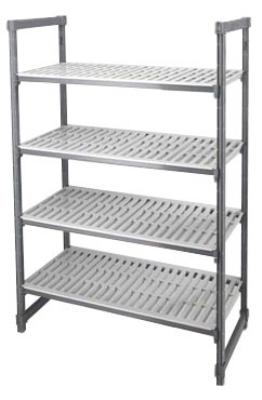 Cambro ESU245472 Vented Stationary 4-Shelf Unit 24 x 52 x 72-H i Restaurant Supply