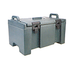 Cambro UPC100192 40-qt Food Pan Carrier - Top Loading, (1)Full Size Pan, Granite Green