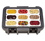 Cambro UPC180191 24-qt Camcarrier Ultra Pan Carrier - (1)Full Size Pan, Granite Gray