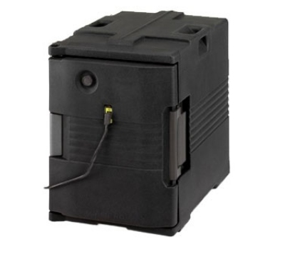 Cambro UPCHW4002110 Camcarrier Heated Pancarrier - Front Loading, Black 220v