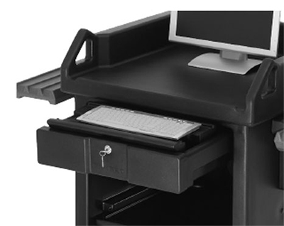 Cambro VCS32KEYT110 Versa Cart Keyboard Tray, Black