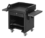 "Cambro VCSWRHD110 Versa Cash Register Cart - 52-3/4x32-1/4x43"" 6"" HD Castors, Black"