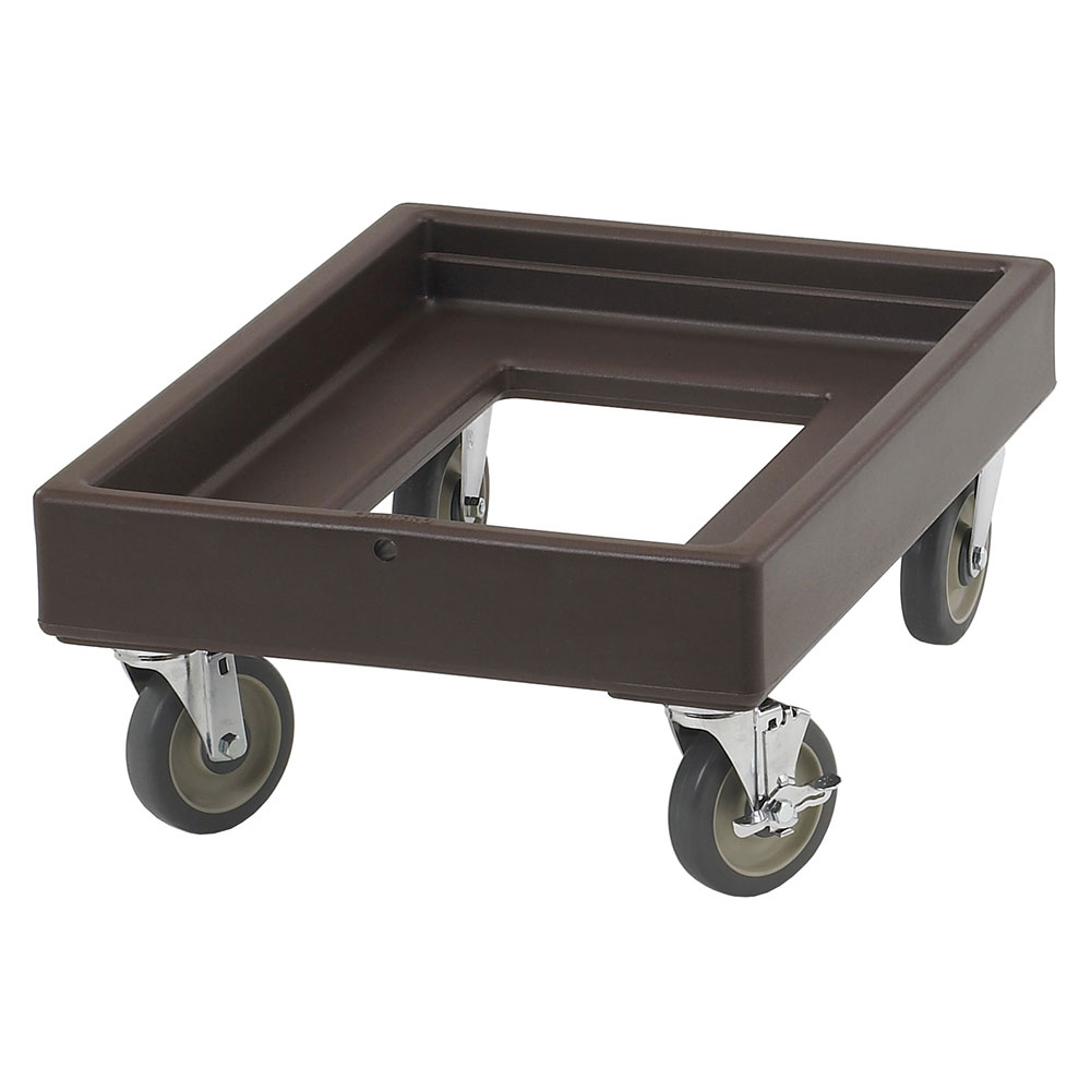 "Cambro CD100131 Camdolly - 28-5/8x19-5/8x10-1/2"" 300-lb Capacity, Dark Brown"