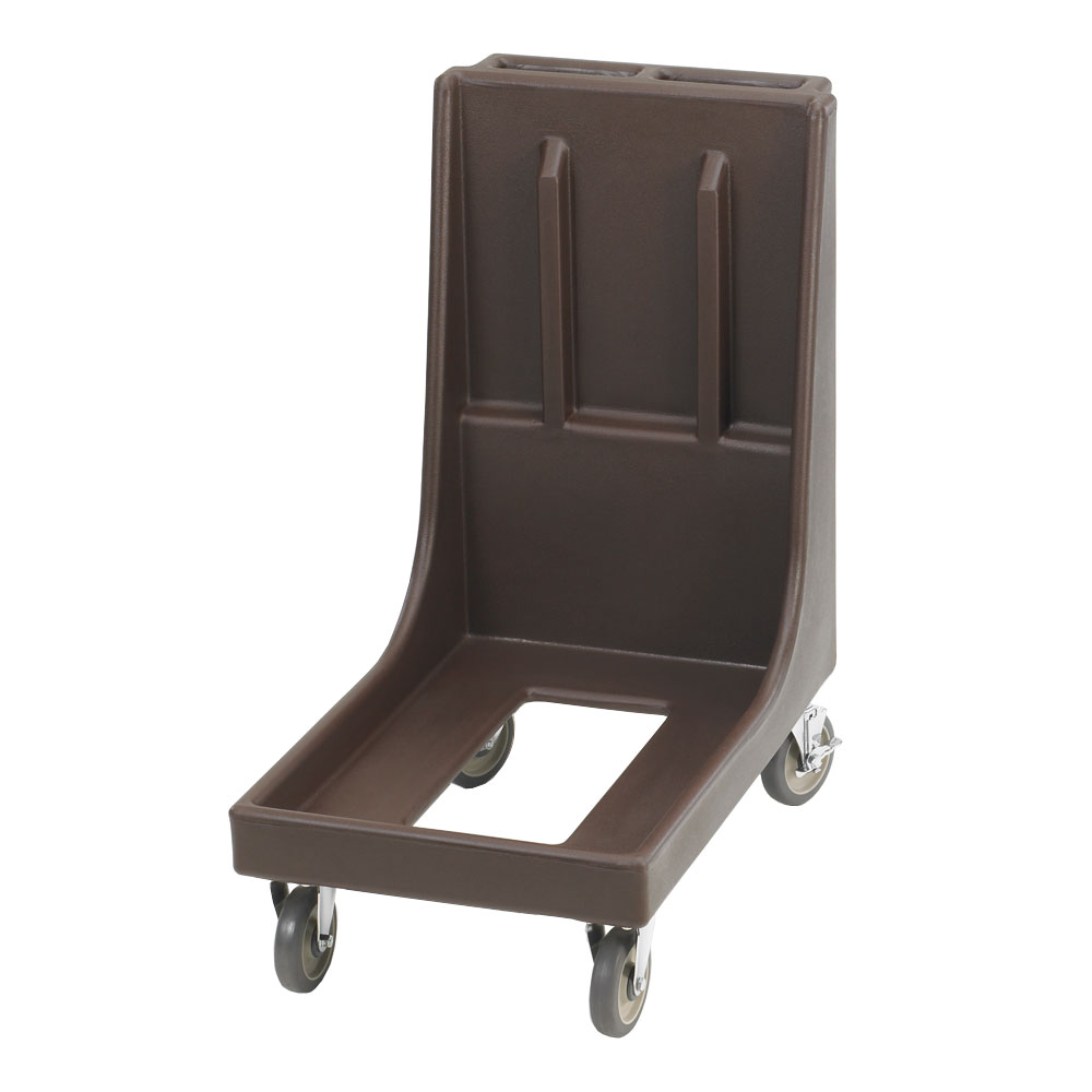 "Cambro CD100H131 Camdolly with Handle - 33-1/8x19-1/2x36-1/4"" 350-lb Capacity, Dark Brown"