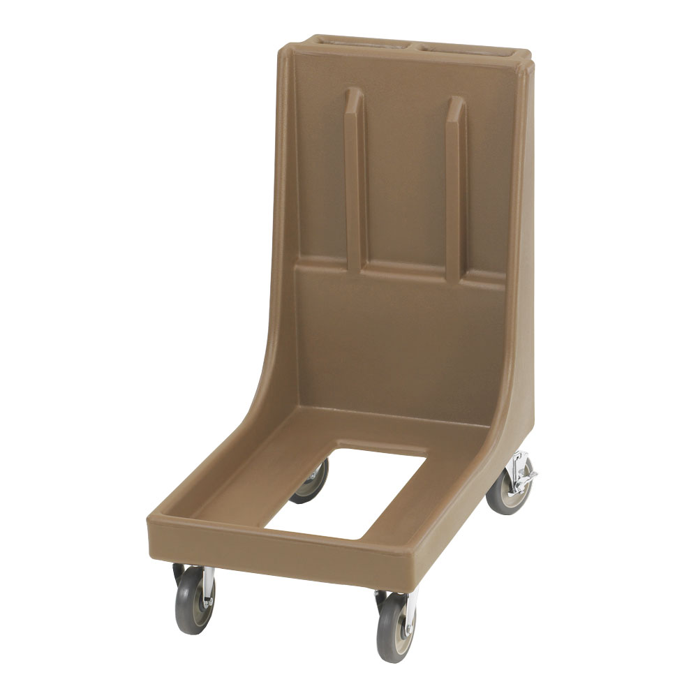"Cambro CD100H157 Camdolly with Handle - 33-1/8x19-1/2x36-1/4"" 350-lb Capacity, Coffee Beige"