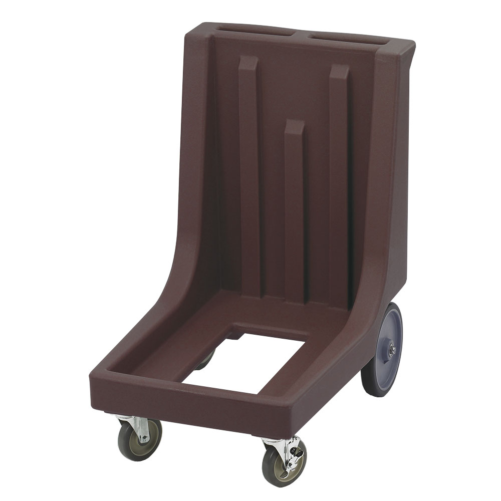 "Cambro CD100HB131 Camdolly with Handle - 32-7/8x23-1/2x36-1/2"" 350-lb Capacity, Dark Brown"