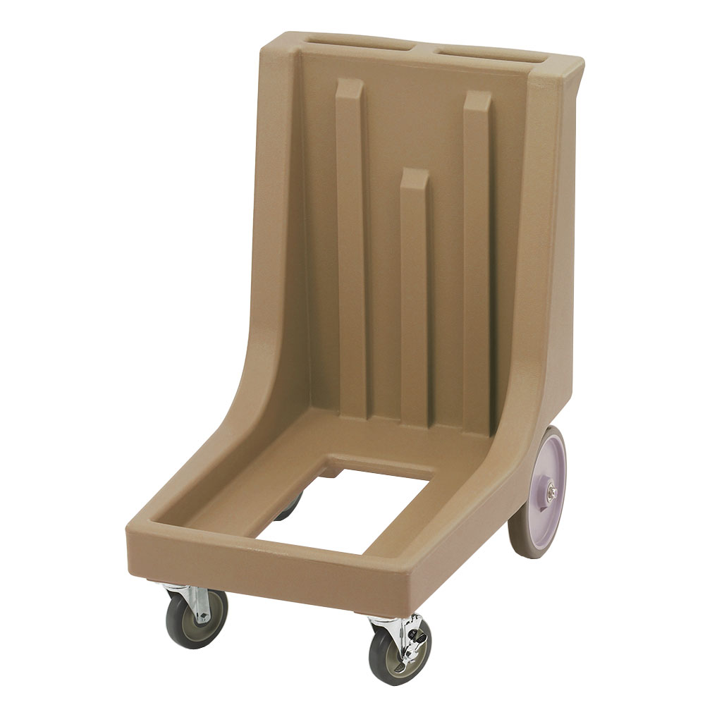 "Cambro CD100HB157 Camdolly with Handle - 32-7/8x23-1/2x36-1/2"" 350-lb Capacity, Coffee Beige"