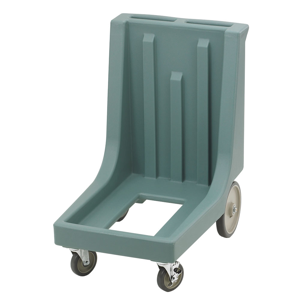 "Cambro CD100HB401 Camdolly with Handle - 32-7/8x23-1/2x36-1/2"" 350-lb Capacity, Slate Blue"