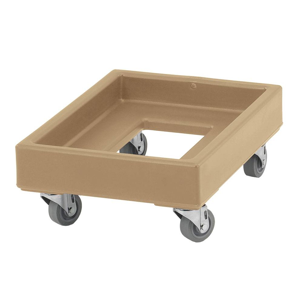 Cambro CD1420157 Camdolly® for Milk Crates w/ 350-lb Capacity, Coffee Beige