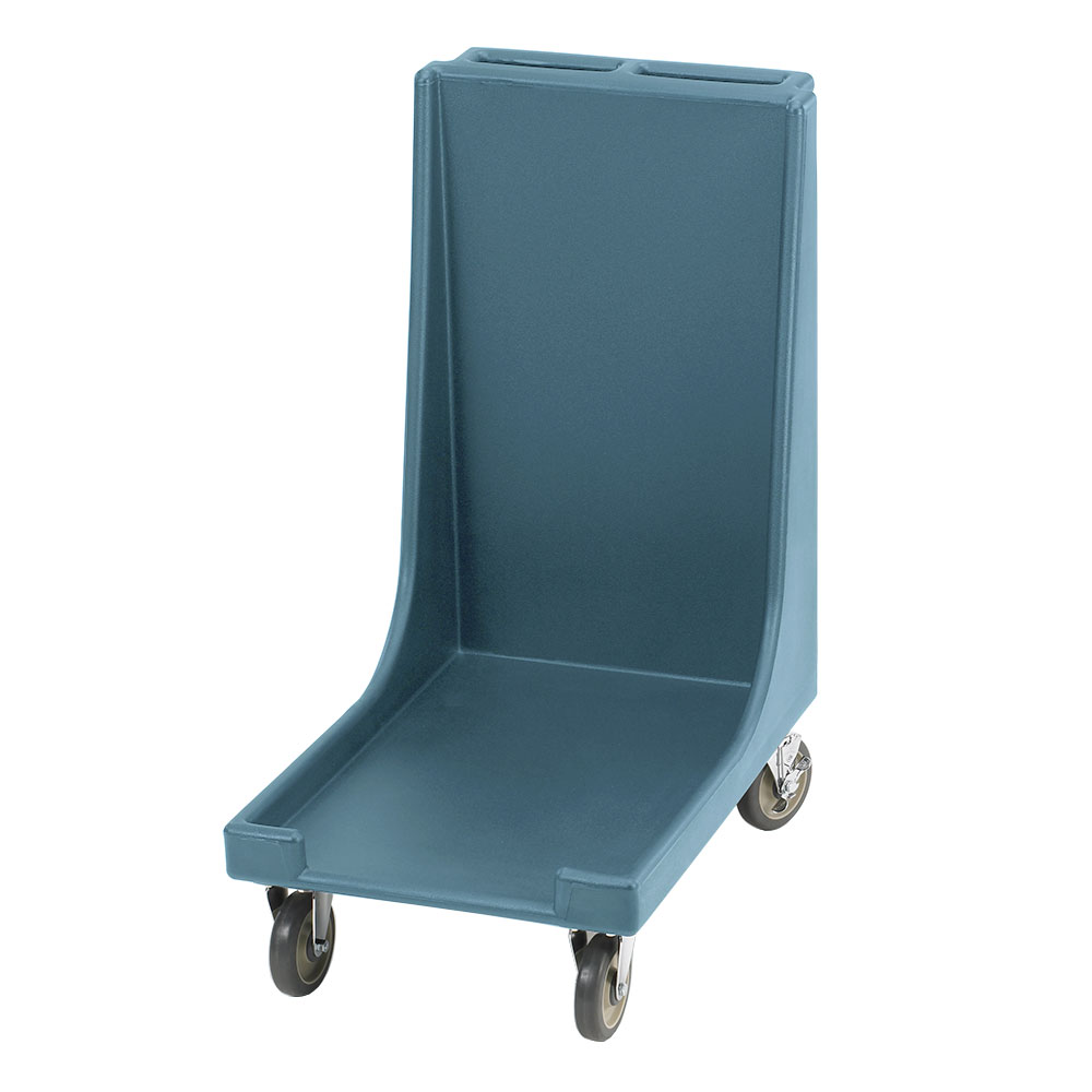 "Cambro CD1826H401 Camdolly with Handle - 31-1/2x20-1/8x38-1/4"" 300-lb Capacity, Slate Blue"