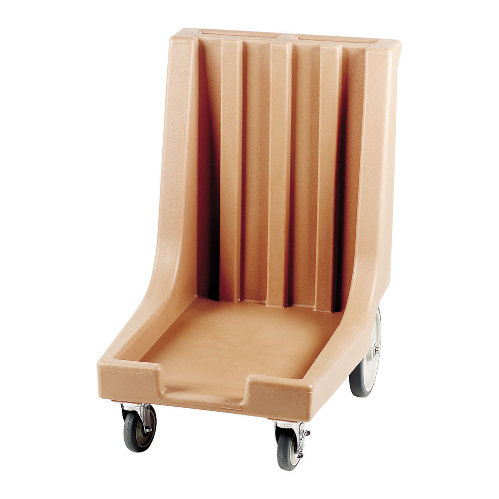 "Cambro CD1826HB157 Camdolly with Handle - 32-1/2x23-1/2x36-1/2"" 300-lb Capacity, Coffee Beige"