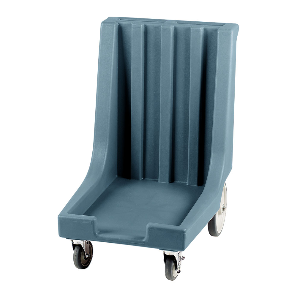 "Cambro CD1826HB401 Camdolly with Handle - 32-1/2x23-1/2x36-1/2"" 300-lb Capacity, Slate Blue"
