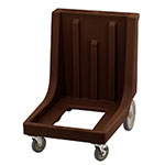 "Cambro CD1826MTC131 Camdolly with Handle - 35-3/8x23-11/16x36-3/8"" 350-lb Capacity, Dark Brown"