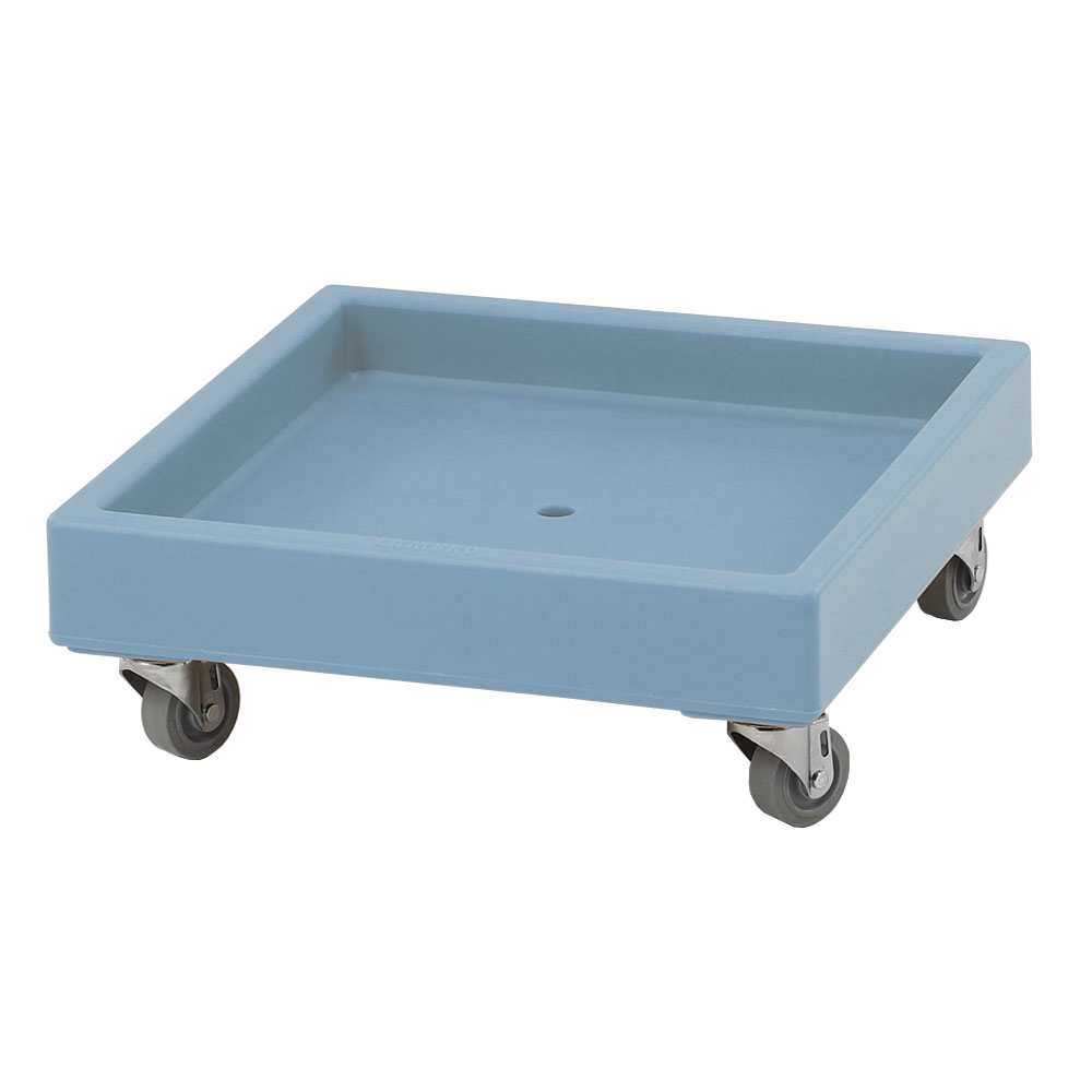 "Cambro CD2020401 Camdolly - 22-1/2x22-1/2x8-1/4"" 300-lb Capacity, Slate Blue"