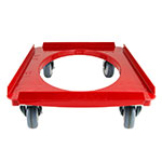 Cambro CD3253EPP158 Camdolly for Cam GoBoxes - 550-lb Load Capacity, Hot Red