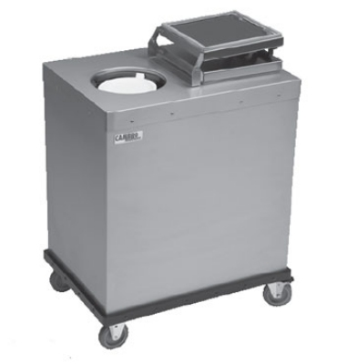 Cambro CHPL10-0000 Camtherm Plate Heater, Two Tubes Hold (100) 9 in Plates, NSF, 208v/1