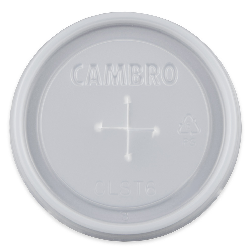 Cambro CLST6190 Disposable Lid For Dinex 6-oz Swirl Tumbler