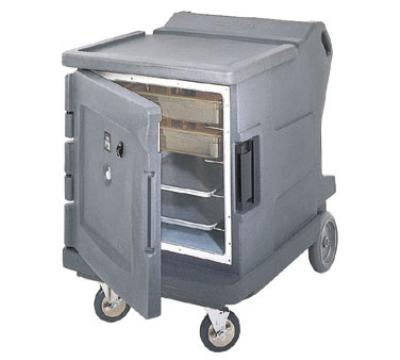 Cambro CMBHC1826LTR191 Camtherm Hot/Cold Cart Electric Single Door Security Granite Gray NSF Restaurant Supply