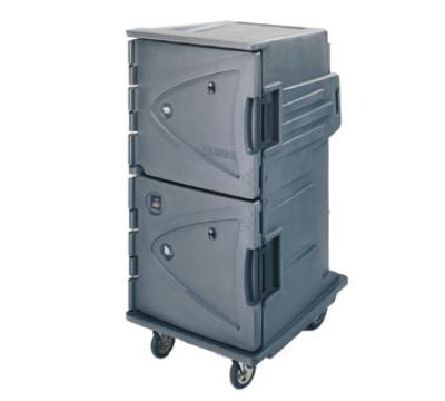Cambro CMBH1826TTR192 Camtherm Hot Cart Electric Tall 2 Door Security Granite Green NSF Restaurant Supply