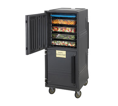 Cambro CMBP Non-Electric Combo Cart w/ 6-in Casters, 4-Hour Holding Capacity, Charcoal Gray