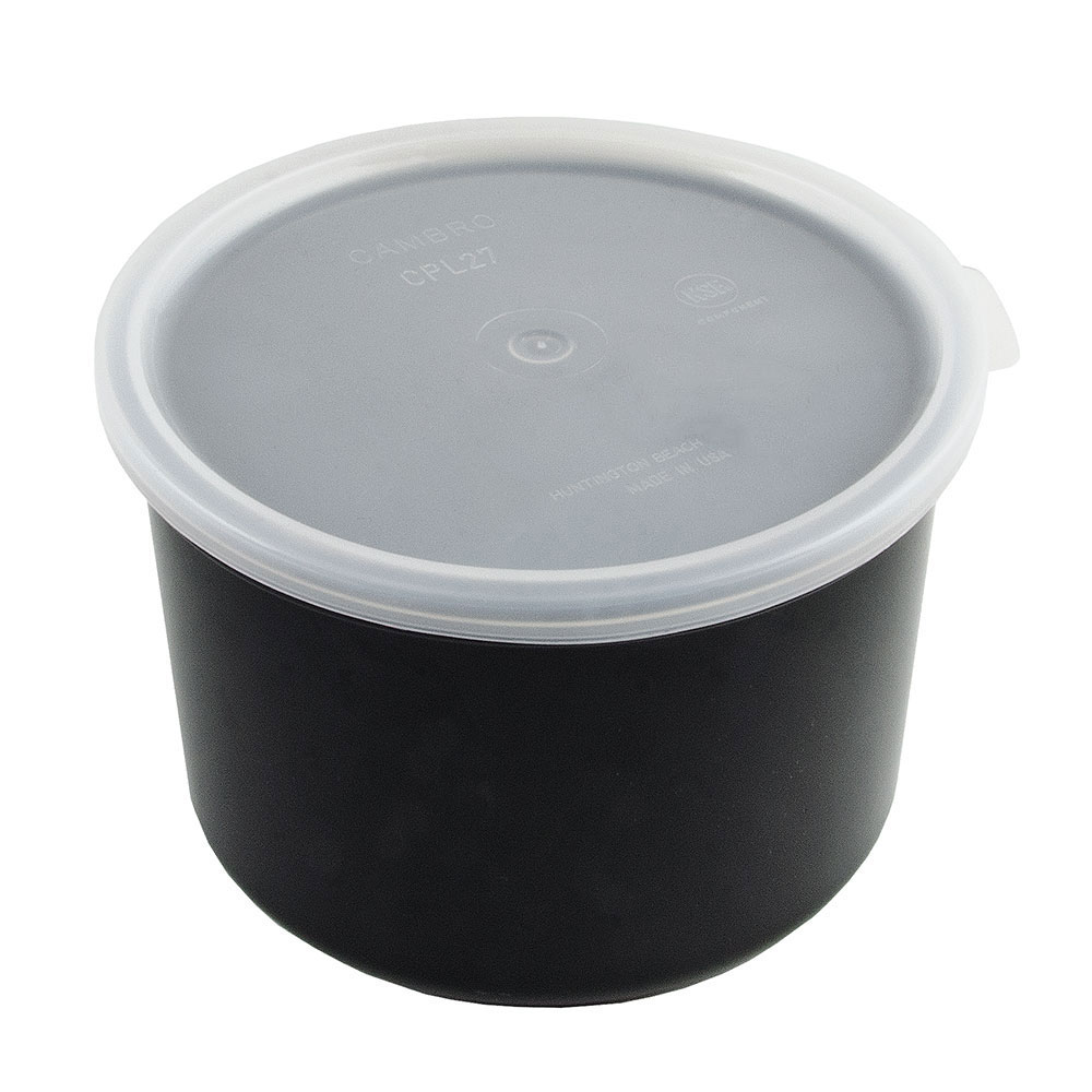 Cambro CP15110 1.5-qt Crock with Lid - Black