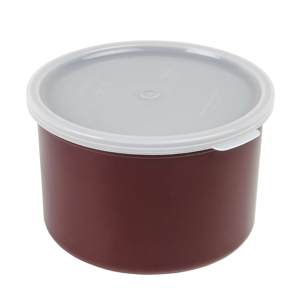 Cambro CP15195 1.5-qt Crock with Lid - Reddish Brown