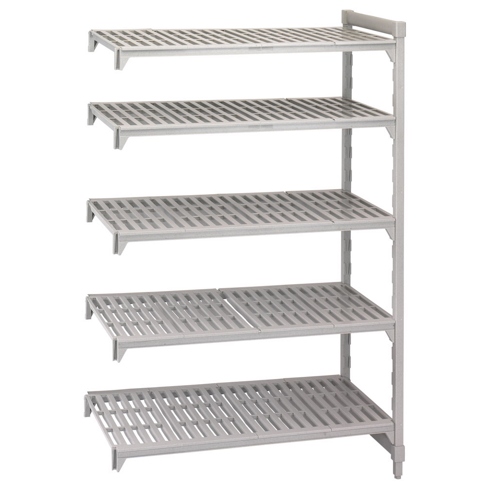 "Cambro CSA54428PKG480 Camshelving Add-On Unit - (5)Shelves, 24x42x84"" Speckled Gray"