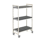 "Cambro CSDRC244875PKG 48"" Drying Rack Cart - 3-Rack, Speckled Gray"