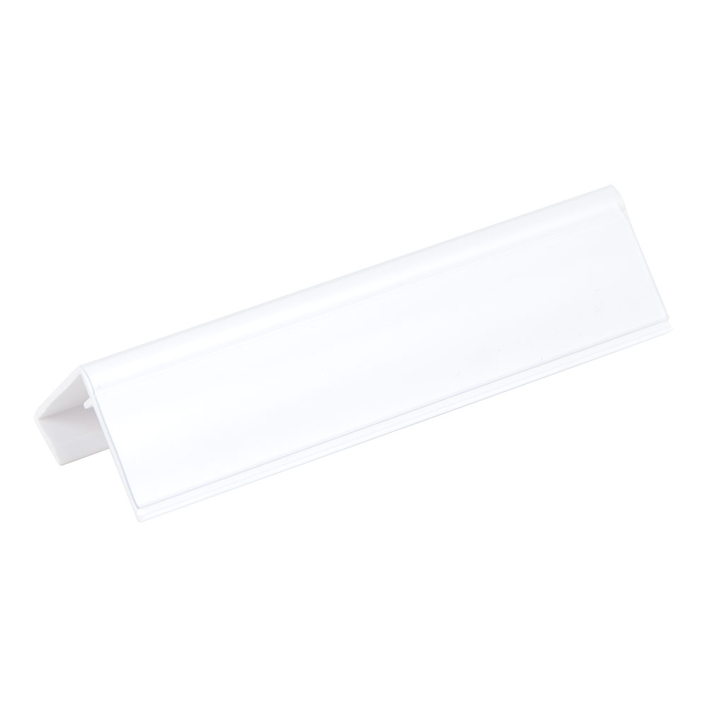 "Cambro CSID 6"" Identification Tag - White/Clear"