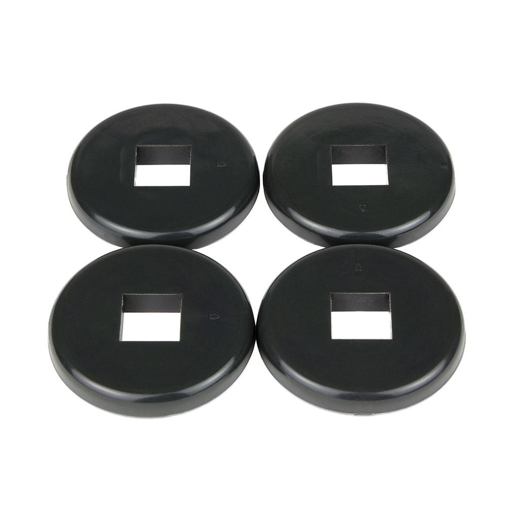 "Cambro CSRDB 3.5"" Donut Bumper - Dark Gray"