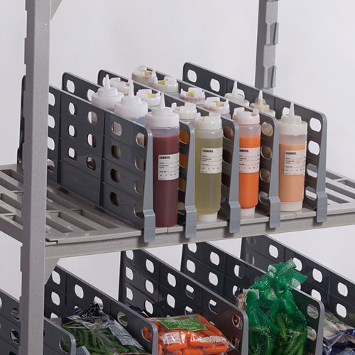 "Cambro CSSD218151 21"" Camshelving® Shelf Divider, Soft Gray"