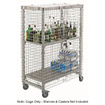 "Cambro CSSU2448000 50.25"" Security Cage - Full Wrap, Stainless Steel"