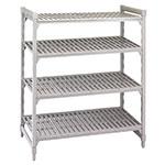 "Cambro CSU41486480 Camshelving Starter Unit - 21x48x64"" (4)Shelves, Speckled Gray"