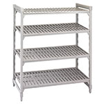 "Cambro CSU44546480 Camshelving Starter Unit - 24x54x64"" (4)Shelves, Speckled Gray"