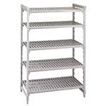 "Cambro CSU54486480 Camshelving Starter Unit - 24x48x64"" (5)Shelves, Speckled Gray"